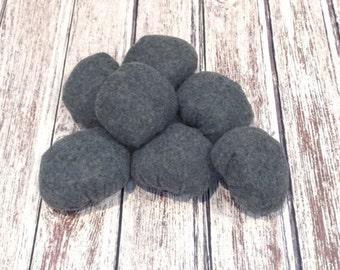 Eco-friendly Felt Rocks for Campfire, Set