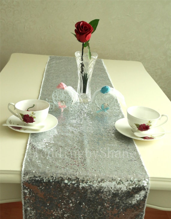 15 x 120 silver table runners sparkly table by weddingbyshane for 120 table runners