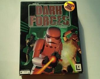 Star Wars Dark Forces Enhanced Mac Version Apple Macintosh Retail Big Box CD-ROM 1994 Lucasarts Video Game
