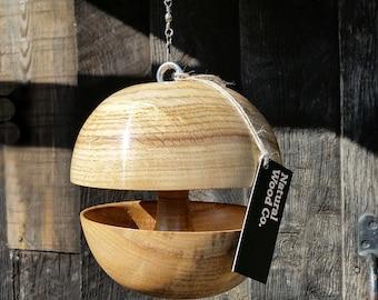 """Oak """"Applecore"""" Bird feeder - Medium"""