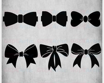 Bows-SVG,DXF,PNG Files