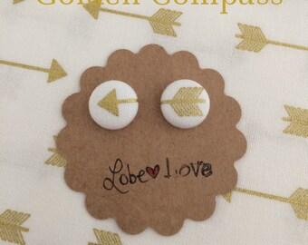 Golden Compass Fabric earrings