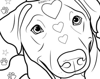 Coloring page, lab coloring page, dog coloring page