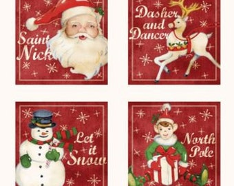 SALE! Red Rooster Home for the Holidays Fabric Panel - 25937