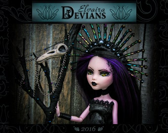 OOAK(custom\repaint) Monster high doll Draculaura by Elvaira Devians