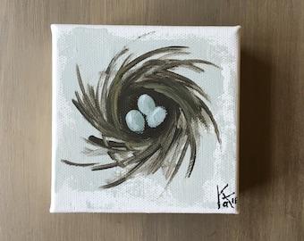 Momma's Nest on canvas