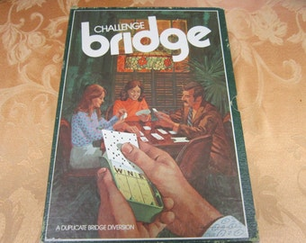 Challenge Bridge Game Vintage 1970's Complete New Vintage Complete Minnesota Mining & Manf. Co. Games Entertainment Collectible