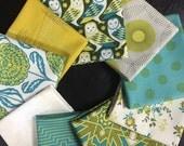 Owl Curated Fabric Bundle featuring Birch Farm by Joel Dewberry for Free Spirit - 9 Fat Quarters
