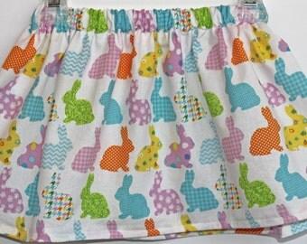 Girls Easter Skirts, Baby Girl, Toddler Easter Skirt- Colorful Easter Bunny skirt, Easter Outfit, Easter clothing