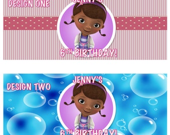 Doc McStuffin Bubble Labels Birthday Party Favors Printable DIY custom personalized