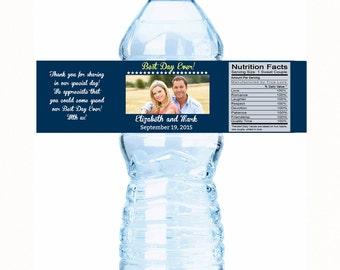 Wedding Water Bottle Labels - Wedding Photo Decor - Wedding Decor - Wedding Favor Labels - wedding water labels - water bottle labels