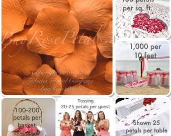 500 Butterscotch Rose Petals - Silk Rose Petals for Weddings. Flower Girl Baskets, Petal Toss