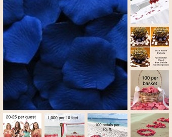 Royal Blue Rose Petals Value Pack