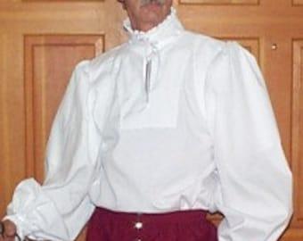 Rapier Shirt - Pleated Ruffle Collar - Gipsy Peddler SCA Fencing Armor
