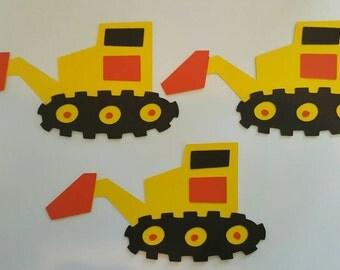 Excavator Truck Die Cut Set of 3, Dump Truck, Boys Birthday, Dump Truck Birthday, Truck die cut