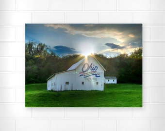 Ohio Bicentennial - Barn Photo Print - Country Home Decor - Landscape Photograph - Wall Decor - Scenic Wall Art - Fine Art Print - Ohio Art