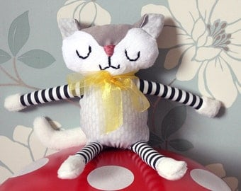 Custom Neutral Coloured Cat - Infant/Toddler/Children's Plush Toy