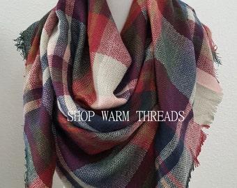 Blanket Scarf, Plaid blanket scarf, Tartan plaid scarf, Pashmina scarf, Tartan scarf, Oversized scarf, Oversized plaid scarf, Monogrammed