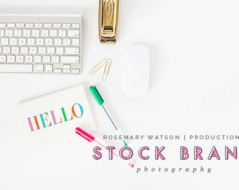 Styled Stock Photography | Lucia Styled Flat | Product Photography | Digital Image | Pink & Gold Desktop Accessories