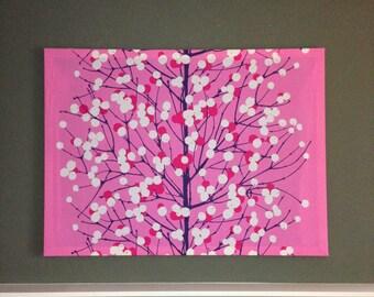 Marimekko 'Lumimarja' Large Fabric Panel Wall Art