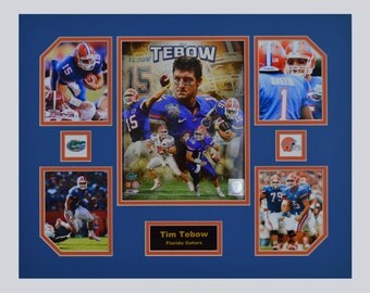Tim Tebow of the University of Florida Gators NCAA football team 16 x 20 inch Collage
