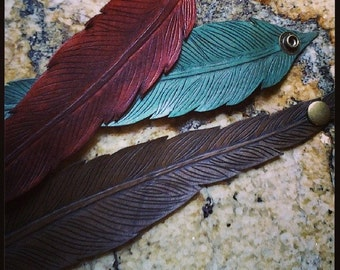 Feather Cuff - Leather