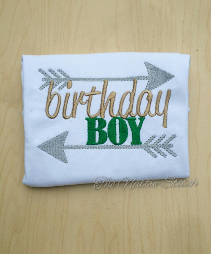 Birthday Boy Shirt Top For 1st Embroidered