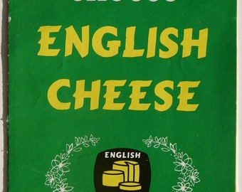 Choose English Cheese Vintage Booklet