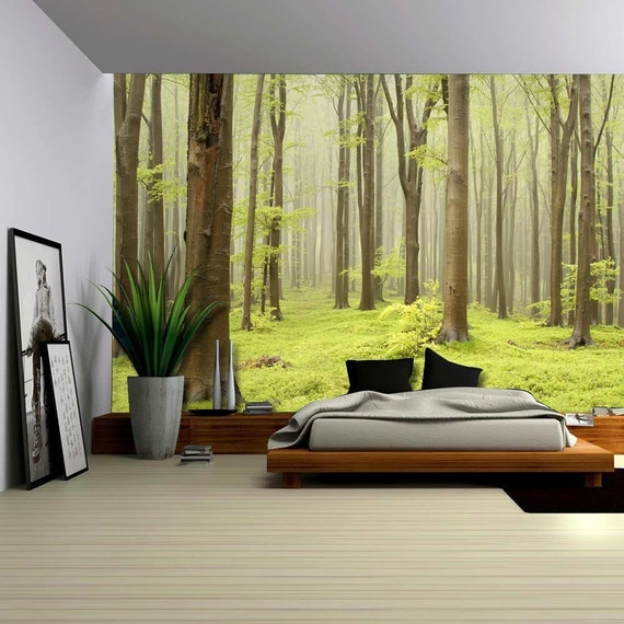 removable wallpaper murals forest - photo #5