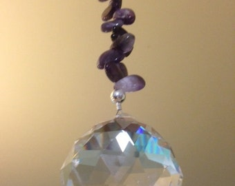 Large Amethyst hanging Crystal