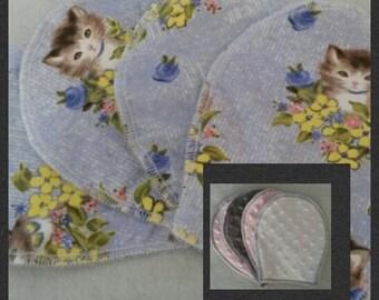 Baby Girl Burp Cloths (Set of 4)