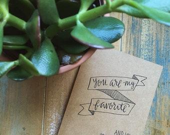 Mutual Favorites Greeting Card