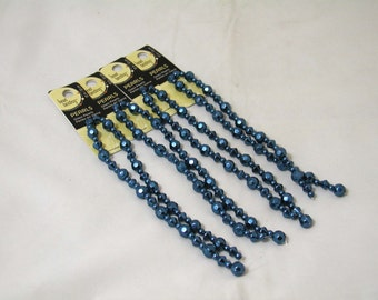 Clearance Glass Beads Navy Facet 6 and 8 mm