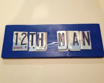 Seahawks 12th Man license plate sign