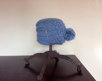 Warm Slouchy Seed Stitch Hat
