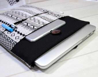 Macbook Pro case 15, Pro Retina sleeve, aztec laptop sleeve, Macbook sleeve 15, unique Macbook case, boho laptop sleeve, 15 inch laptop case