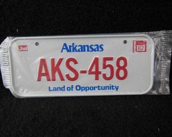 Arkansas State Bicycle License Plate - 1982 Bike License Plate -Mini Colorful Metal Signs