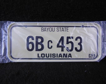 Louisiana State Bicycle License Plate - 1982 Bike License Plate -Mini Colorful Metal Signs