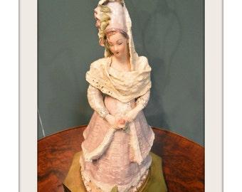 Antique/Vintage Renaissance Style Women Figure Lamp