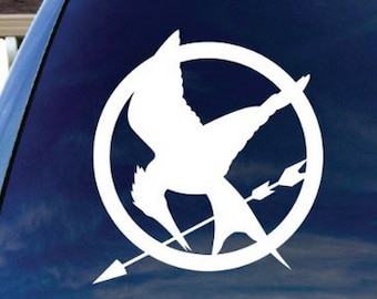 Mocking Jay Hunger Games Window Sticker