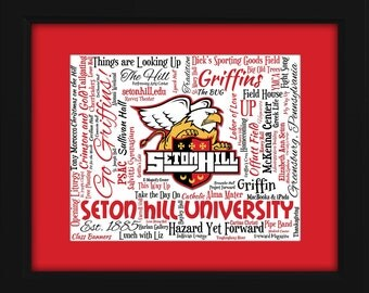 Seton Hill University 16x20 Art Piece - Beautifully matted and framed behind glass