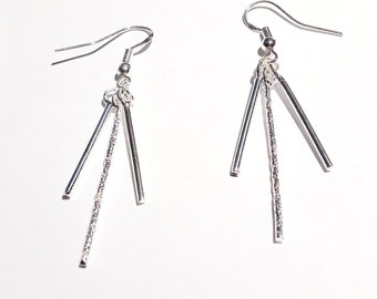 Dangling earrings silver, chic ethnic spirit
