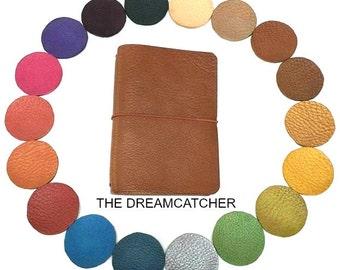 PASSPORT SIZE Dreamcatcher Midori Travelers Notebook Leather Journal Fauxdori Build your own journal Design your own journal