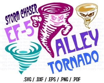 Tornado Clipart Design Files, Use With Silhouette Software, Cricut, Storm Chaser SVG File, EPS File, Svg Clip Art, Silhouette Studio - CA333