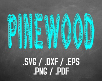 Pinewood, Old West Font Design Files For Use With Your Silhouette Studio Software, DXF Files, SVG Font, EPS File, Png Font, Font Silhouette