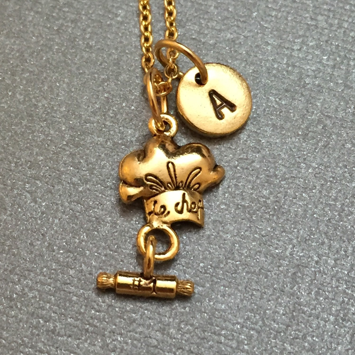 chef hat necklace chef hat charm chef necklace personalized