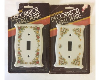 Vintage 70's Light Switch Covers