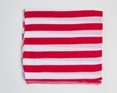 Thick Red And White Stripe Original Swaddle Blanket