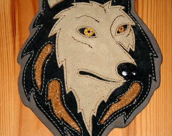 wolf leather patch