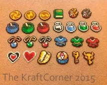 Original Legend of Zelda A Link to the Past Inspired Perler Magnets, Keychains, Charms, Party Favors, Sprites